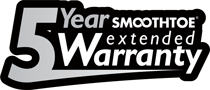 SmoothToe 5 Year Warranty